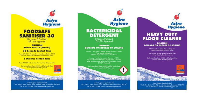 Hygiene and Cleaning Chemicals from Astra Hygiene